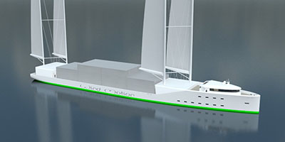 WindMotion 100M windship sailing cargo